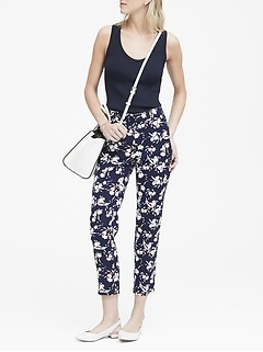 Avery Straight-Fit Floral Ankle Pant