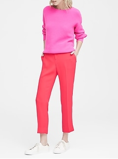 Avery Straight-Fit Solid Ankle Pant