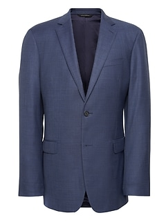 Standard Italian Wool Sharkskin Suit Jacket