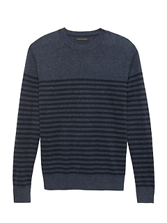 Silk Linen Stripe Sweater
