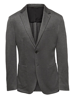 Slim Stretch Knit Blazer