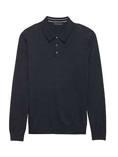 Silk Cotton Cashmere Sweater Polo