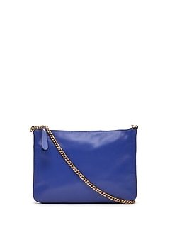 Italian Leather Chain Crossbody Bag