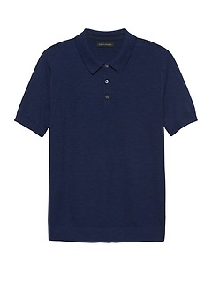 Cotton Sweater Polo