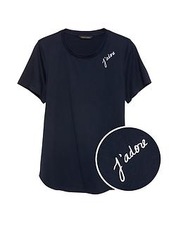 Petite SUPIMA® Cotton Graphic T-Shirt