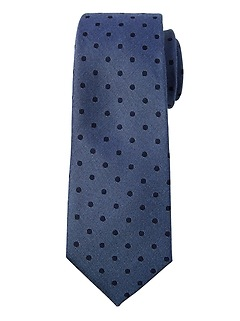 Indigo Dot Silk Nanotex® Tie