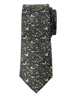 Hidden Animals Silk Nanotex® Tie