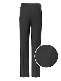 Slim Italian Wool Plaid Suit Pant