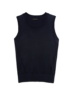 Stretch-Cotton Sweater Shell