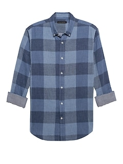 Slim-Fit Double-Weave Shirt
