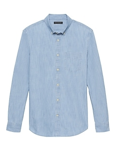 Standard-Fit Chambray Shirt