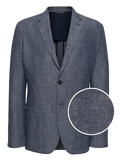 Slim Chambray Blazer