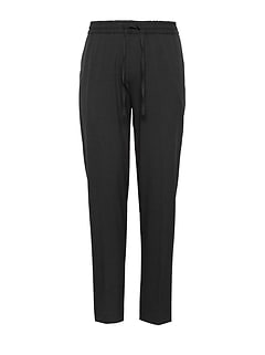 Slim Lightweight Drawstring Suit Pant