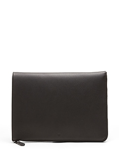 "Leather 15"" Laptop Sleeve"