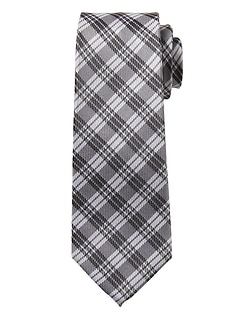 Stripe Plaid Silk Nanotex® Tie