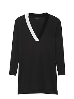 Threadsoft V-Neck Tunic T-Shirt