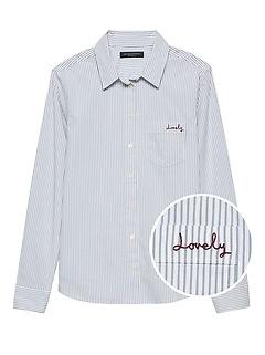 Quinn Straight-Fit Stripe Shirt