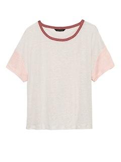 Linen Cropped T-Shirt