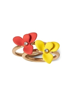 Floral Stacking Rings