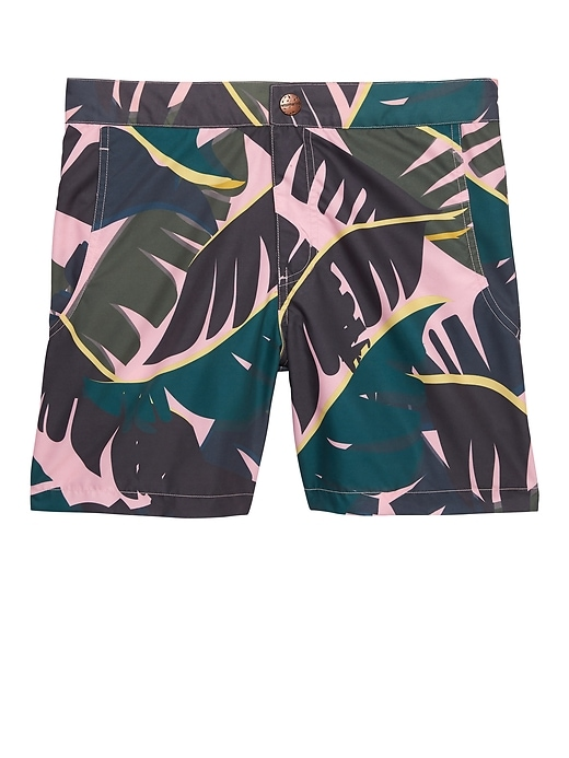 Retromarine &#124 Palm Tropical Camo Swim Short
