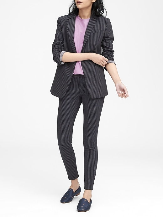 Long and Lean-Fit Pinstripe Blazer