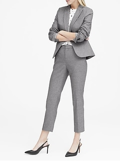 Classic-Fit Heathered Blazer