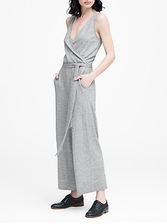 Soft Ponte Cropped Jumpsuit