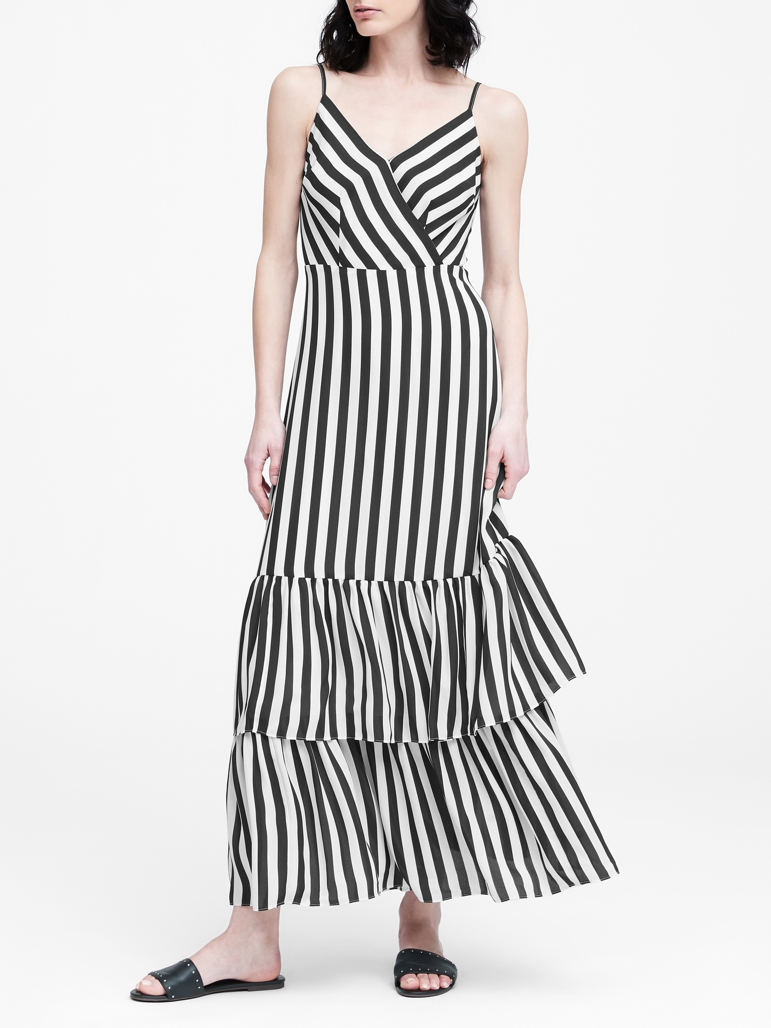 f060fe617 Stripe Tiered Maxi Dress | Banana Republic