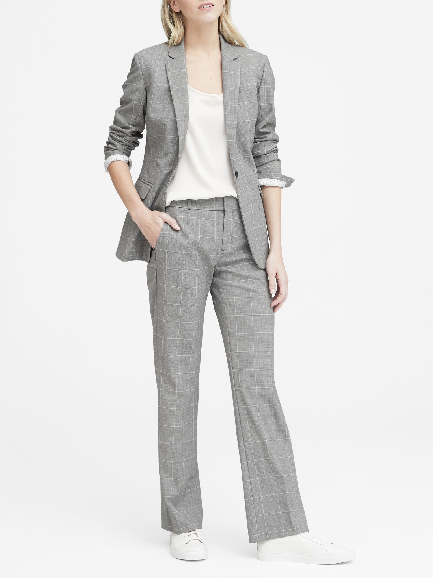 268d4188e2 Long and Lean-Fit Washable Wool Blend Blazer