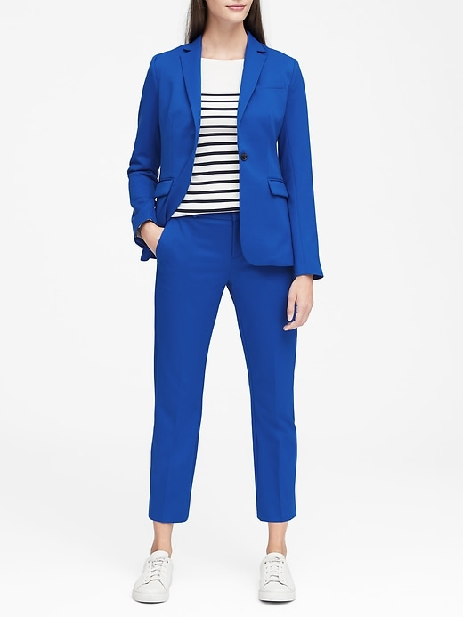 Long and Lean-Fit Washable Blazer