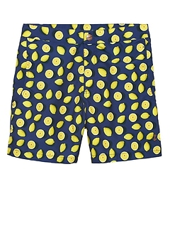 Retromarine &#124 Lemon Print Swim Short