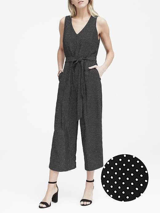 Polka Dot Cropped Jumpsuit