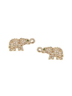 Pavé Elephant Stud Earrings
