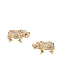 Pavé Rhino Stud Earrings
