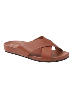 Crossover Slide Sandal