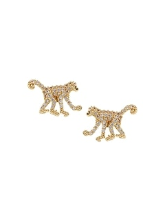 Pavé Monkey Stud Earrings