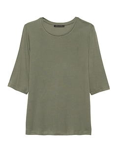 Soft Stretch Modal Crew-Neck T-Shirt