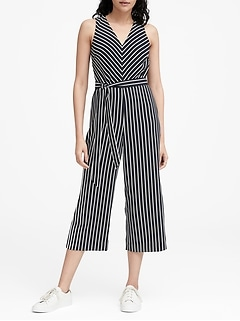 Wide-Leg Cropped Jumpsuit