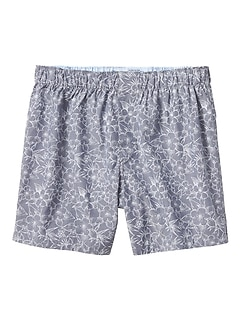 Chambray Tropical Floral Boxer