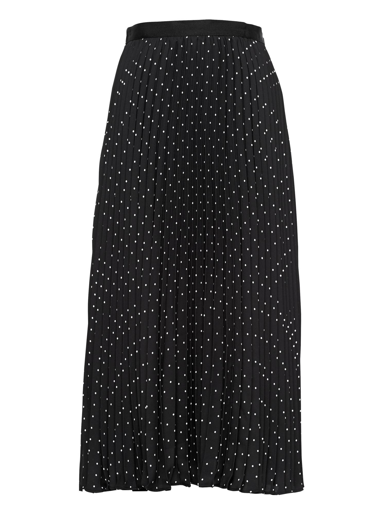 f5c7d72eb0 Polka Dot Pleated Midi Skirt | Banana Republic