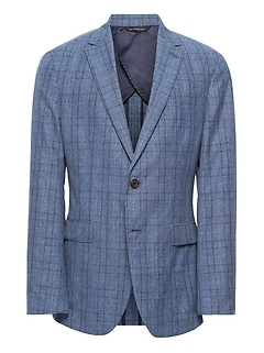 Slim Italian Wool-Cotton Blazer
