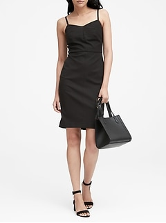 Petite Strappy Bi-Stretch Sheath Dress