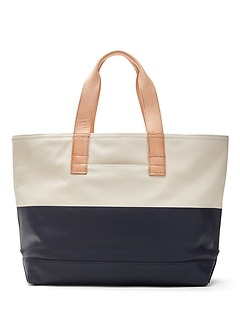 Coated Canvas Large Tote
