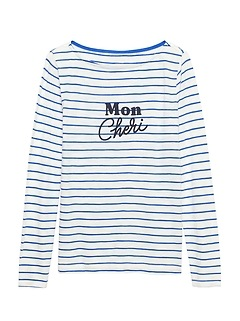 Slub Cotton-Modal Boat-Neck T-Shirt