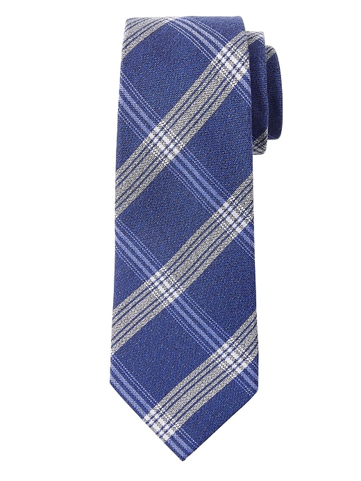 Seasonal Plaid Nanotex® Tie