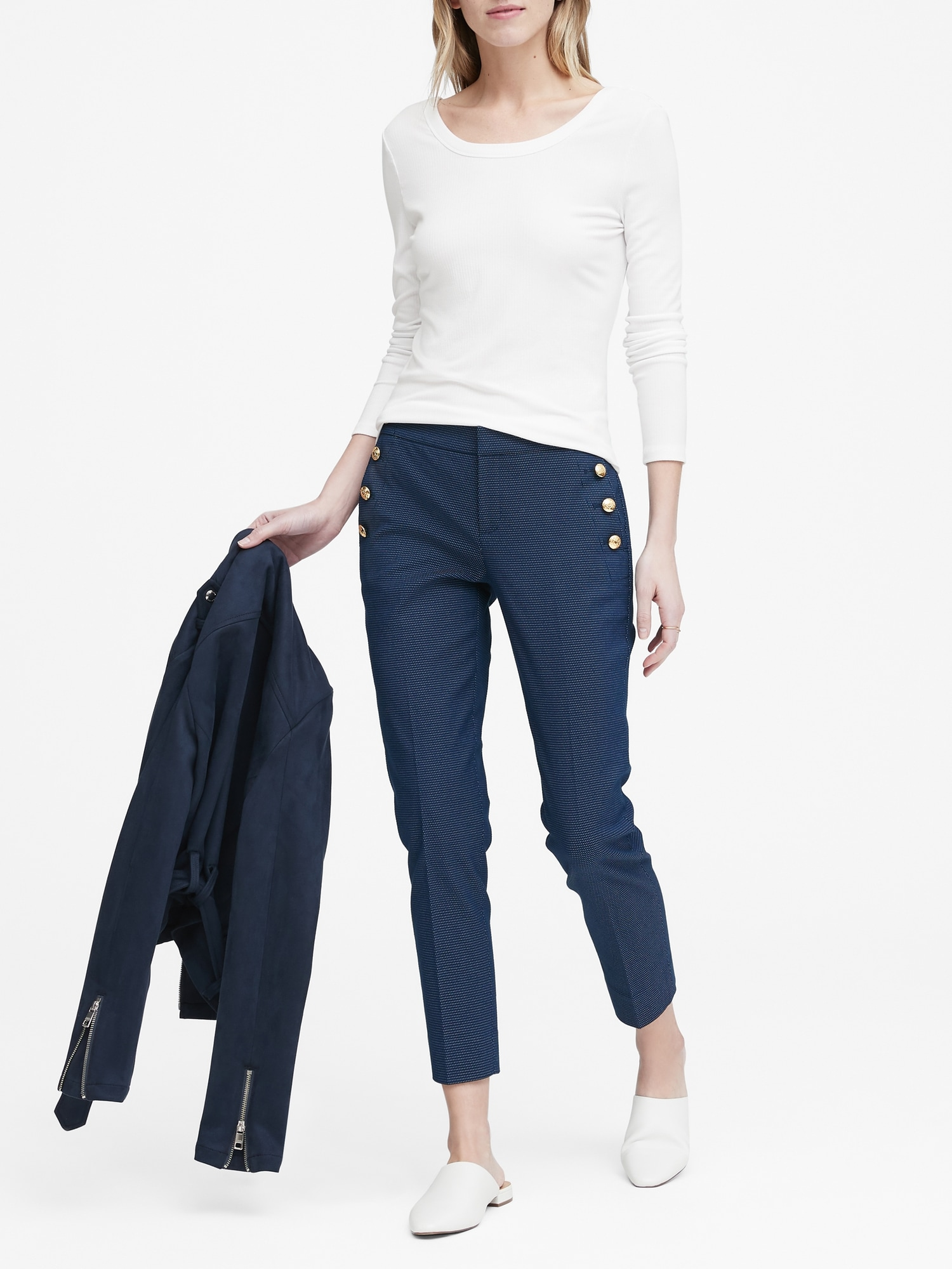f7df0d072dcb Avery Straight-Fit Sailor Ankle Pant | Banana Republic