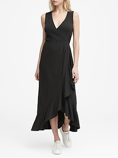 Petite Soft Ponte Maxi Dress