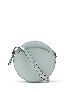 Italian Leather Circle Crossbody Bag