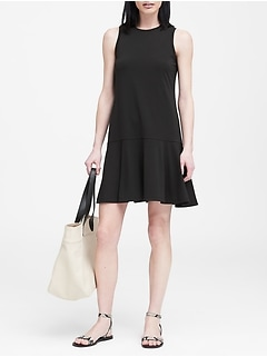 Petite Knit Drop Waist Dress