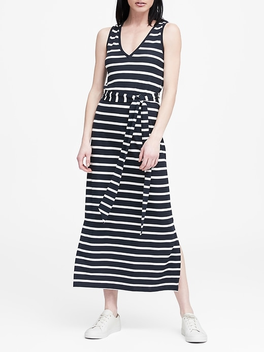 Stripe Soft Ponte Tank Dress